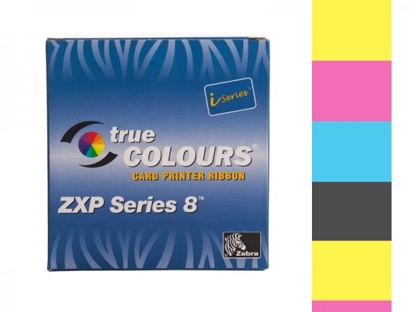 Zebra ZXP Series 8 Farbband YMCK 625 vollfarbig