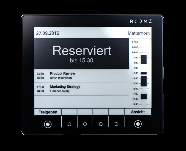 Roomz Raumbuchungssystem Display Schwarz