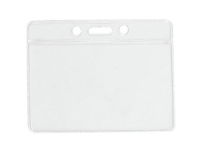 Kartenhalter Vinyl Querformat weiß Farbbalken