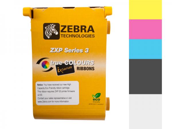 Zebra ZXP Series ix Eco Farbband 1/2 YCMKO