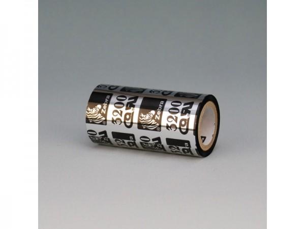 Zebra 3200 Wax Harzband 80 mm x 450 m