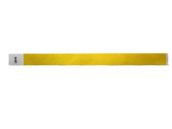19mm Tyvec Armband, selbstklebend. Verschluss gelb
