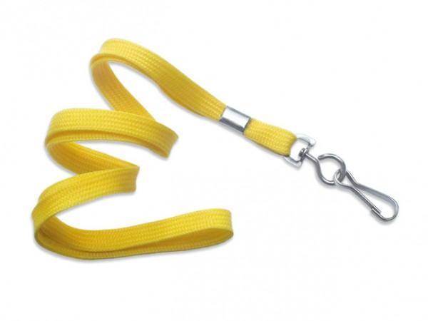 Classic Flach-Lanyard, gelb, 10mm