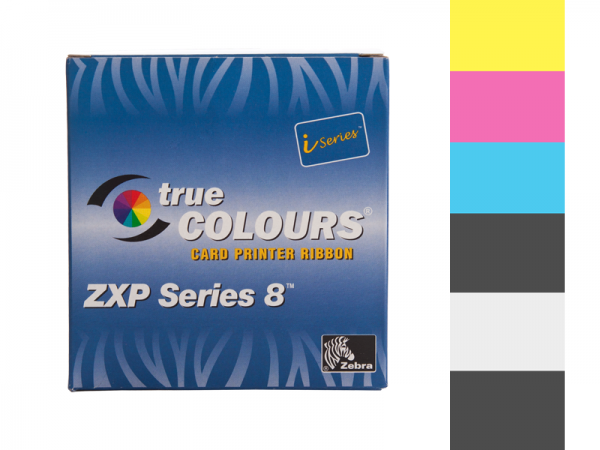Zebra ZXP Series 8 Farbband YMCKKI vollfarbig