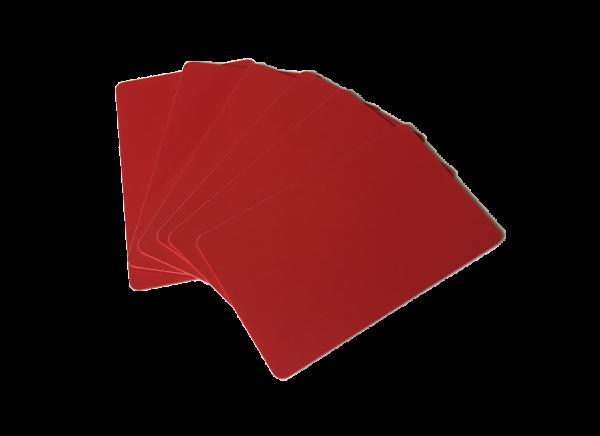 Zebra Premier Karten rot 0,76mm