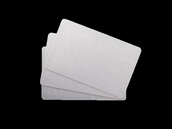 Standard PVC Karten silber metallisch