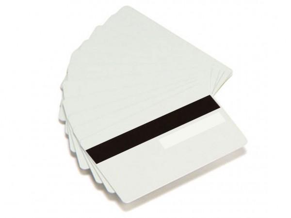 Zebra PVC Karte weiss Magnestreifen Unterschrift