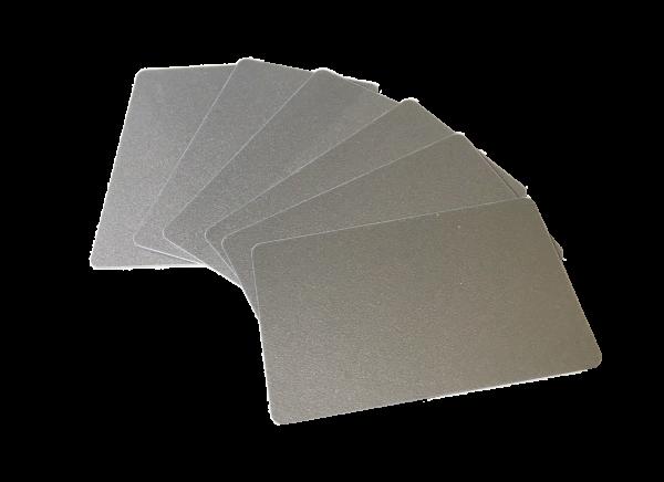 Zebra Premier Karten silber 0,76mm