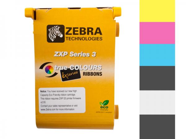 Zebra ZXP Series 3 ix Eco Farbband YMCKOK