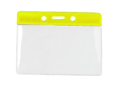 Kartenhalter Vinyl Querformat gelb Farbbalken