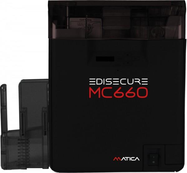 Matica EDIsecure MC660, 600 dpi hochauflösender Re-Transfer Kartendrucker