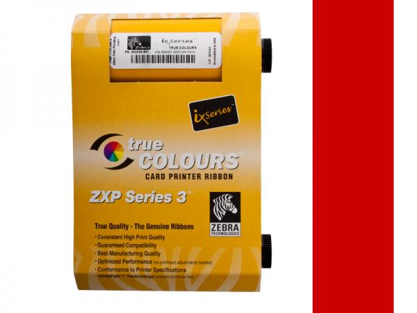 Zebra ZXP Series 3 Farbband rot monochrom