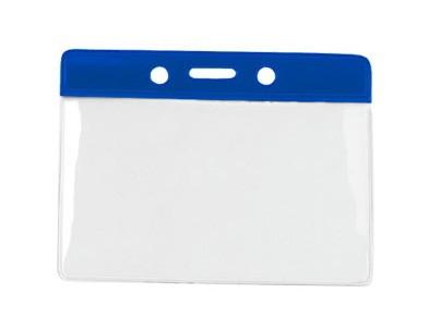 Kartenhalter Vinyl Querformat blau Farbbalken