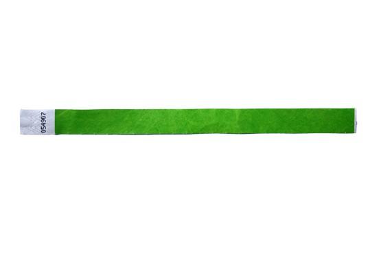 19mm Tyvec Armband, selbstklebend. Verschluss grün