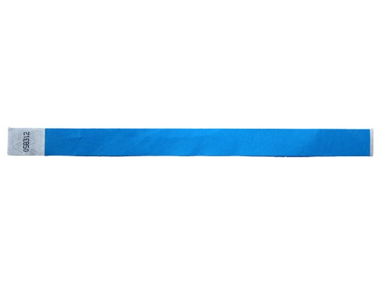 19mm Tyvec Armband, selbstklebend. Verschluss blau