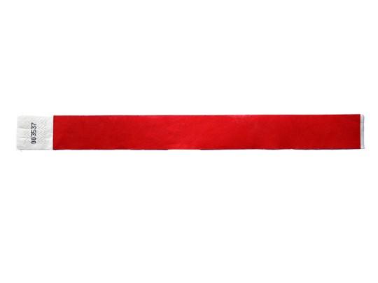25mm Tyvec Armband, selbstklebend. Verschluss, rot