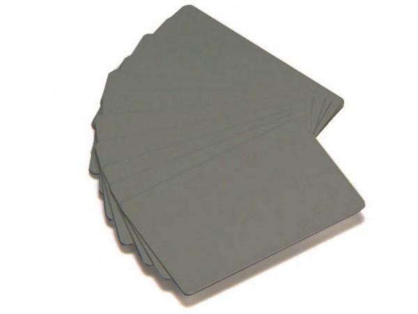 Zebra Plastikkarten Silber metallic