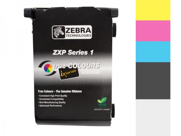 Zebra ZXP Series 1 Farbband 1/2 YMCKO vollfarbig