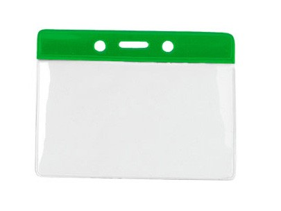 Kartenhalter Vinyl Querformat grün Farbbalken