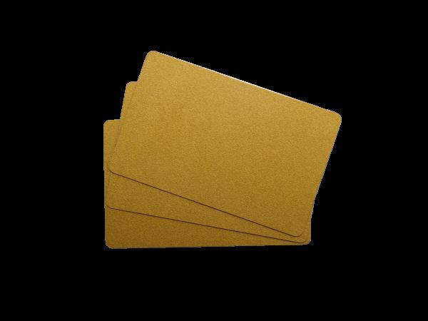 PVC Plastikkarte Gold metallic