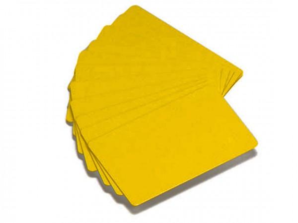 Zebra PVC Karten gelb 0,76s mm