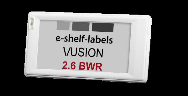 VUSION 2.6'' Label 868MHz BWR EU140 Rahmenfarbe weiß