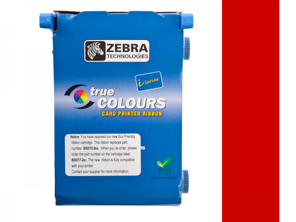 Zebra Value Line Eco Farbband rot monochrom