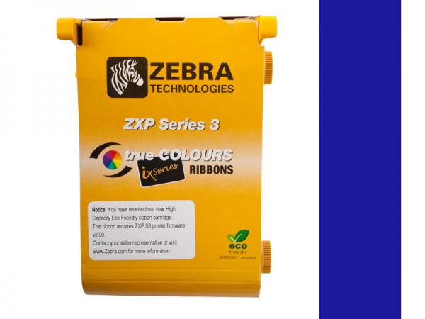 Zebra ZXP Series 3 ix Eco Farbband blau monochrom