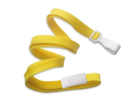 Classic Flach Lanyard, gelb, 10mm