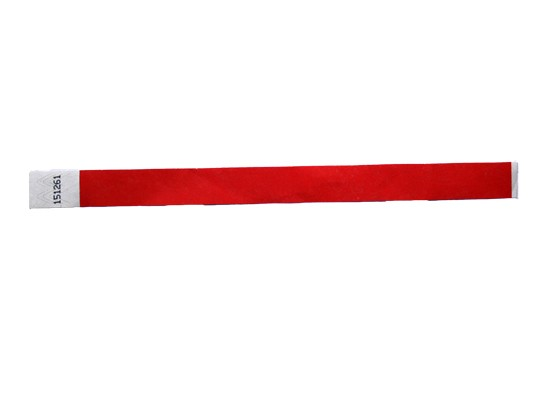 19mm Tyvec Armband, selbstklebend. Verschluss, rot