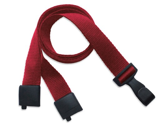PET Recycling Lanyard EcoLine, flach, rot, 16mm