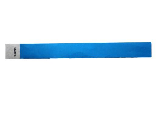 25mm Tyvec Armband, selbstklebend. Verschluss blau