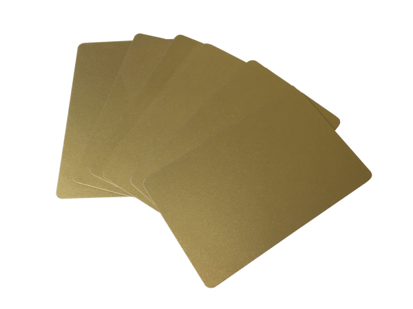 Zebra Premier Karten gold 0,76mm
