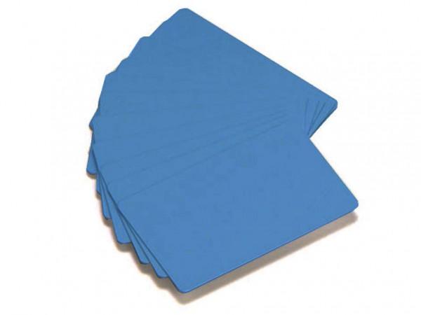 Zebra PVC Karten blau 0,762 mm