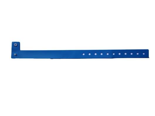 Vinyl Armband Perma Snap blau