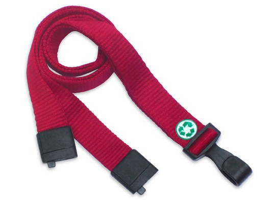 Bambus Lanyard EcoLine, flach, rot, 16mm